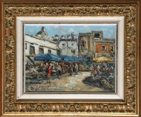 Edwardo Scognamiglio, Scorcio 1, Oil Painting