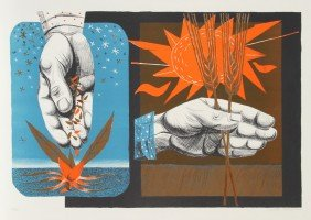 Anton Refregier, Growth And Harvest, Lithograph