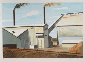 Clarence Holbrook Carter, Factory, Lithograph
