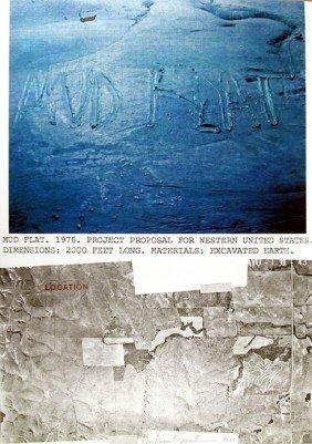 Dennis Oppenheim, Mud Flat, Lithograph