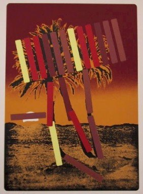 Menashe Kadishman, Red Palm, Serigraph