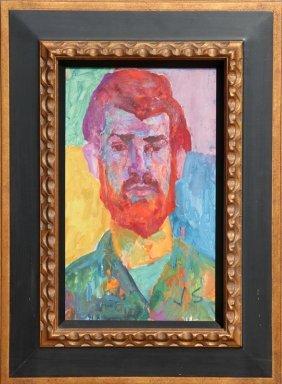 Joseph Solman, The Red Beard, Oil Painting