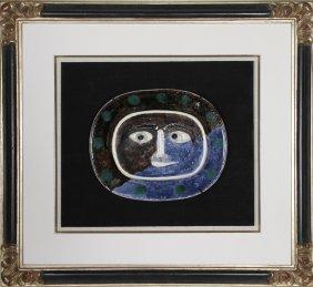 Pablo Picasso, Visage Brun-Bleu (Brown Blue Face) ,