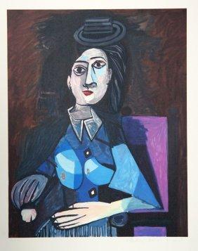 Pablo Picasso, Femme Au Petit Chapeau Rond, Assise