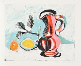 Pablo Picasso, Nature Morte Au Pichet Rose, Lithogr