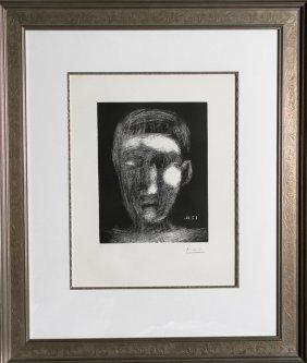 Pablo Picasso, Tete De Garcon (Bloch 1025), Linocut