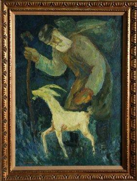 Chaim Goldberg, Wanderer, Oil Painting