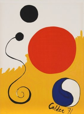 Alexander Calder, Abstract With Yin Yang, Lithogra