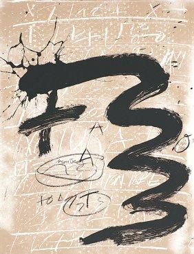 Antoni Tapies, Untitled, Columbus Portfolio, Scree