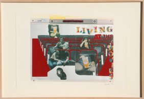 Larry Rivers, Living At The Movies, Lithograph