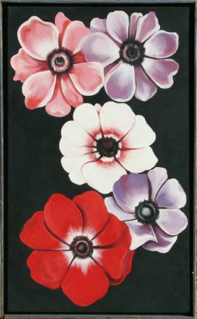 Lowell Blair Nesbitt, Five Anenomes, Oil Painting