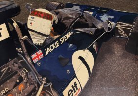 Ron Kleemann, Jackie Stewart, Serigraph