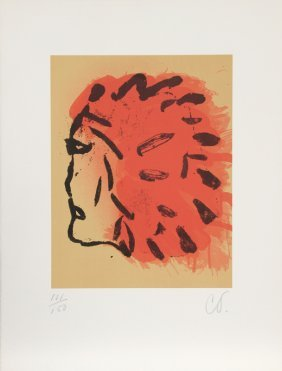 Claes Oldenburg, Indian Head From Peace Portfolio,