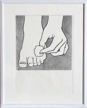 Roy Lichtenstein, Foot Medication, Offset Lithogra