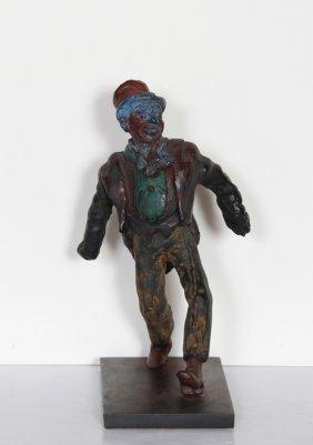 Rube Lucius Goldberg, Clown, Bronze Sculpture