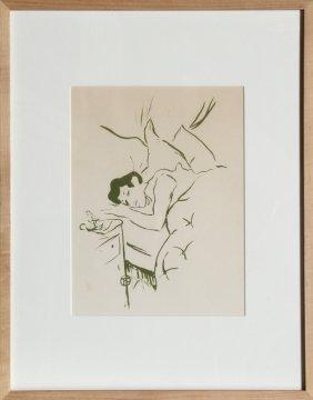 Henri De Toulouse-Lautrec, Ta Bouche, Lithograph