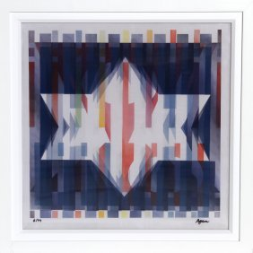 Yaacov Agam, Star Of Hope, Agamograph