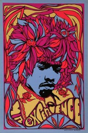 Jimi Hendrix - Mr. Experience, Black Light Poster