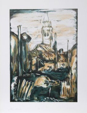 Bogdan Grom, Stone Church, Lithograph