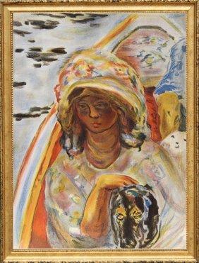 Pierre Bonnard, Jeune Fille Dans Une Barque From Verve,
