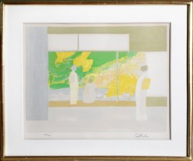 Bernard Cathelin, Ladies At The Window, Lithograph