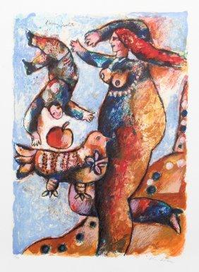 Theo Tobiasse, L'oiseau Prophete, Lithograph