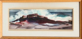 Eve Nethercott, Surf At Twin Lights, Watercolor