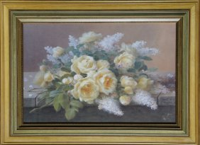 Raoul De Longpre, Flowers, Poster