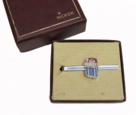 Hickok Tie Clip Featuring 1955 Wurlitzer Model 1800