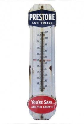 Porcelain Prestone Anti-freeze Thermometer