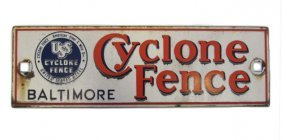 Cyclone Fence Sign