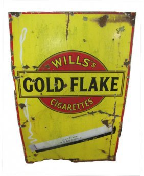 Wills's Gold Flake Cigarette Sign