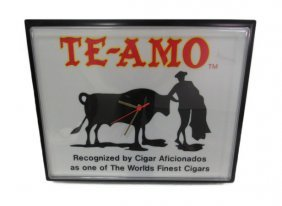 Te-amo Cigar Advertising Clock