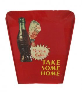 """""""take Some Home"""" Metal Coca-cola Sign Off Bottle"""