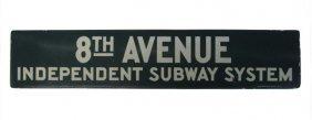 Porcelain 8th Avenue Subway Sign