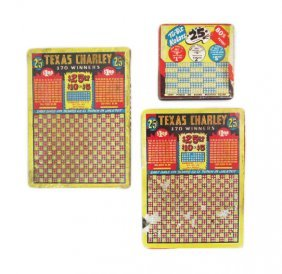 Lot Of 3 Gambling Punchboards