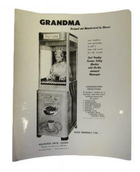 Original 8 X 10 Glossy Advertising For Munves Grandma