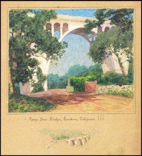 Antique California Watercolor