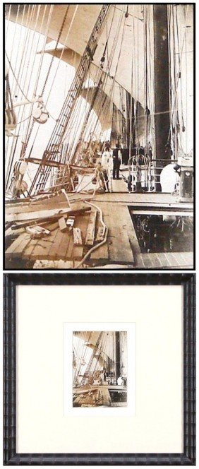 Decorative Arts: Historical Nautical Photograph