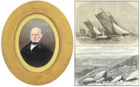 Antique Portrait & Prints (three)