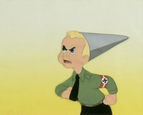 Walt Disney Production (a Rare 1943 Anti-nazi Cel)