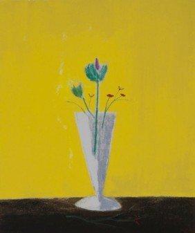 Craigie Aitchison (1926-2009) Thistle Still Life