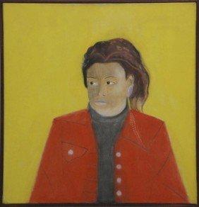 Craigie Aitchison (1926-2009) Girl In A Red Blazer