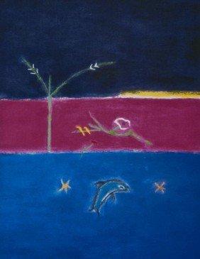 Craigie Aitchison (1926-2009) Dolphin