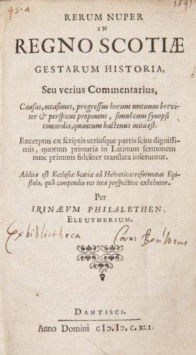[Spang (William)] Rerum Nuper Regno Scotiae Gestar