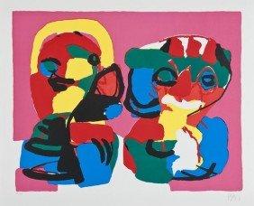 Karel Appel (1921-2006) Attendre Un Ami