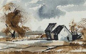 Rowland Hilder OBE PRI (1905-1993) Farm Buildings