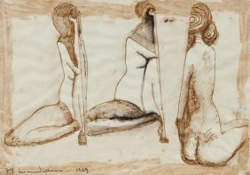 Frederick Edward McWilliam (1909-1992) Three Nude