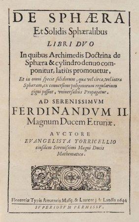 Torricelli (Evangelista) Opera Geometrica