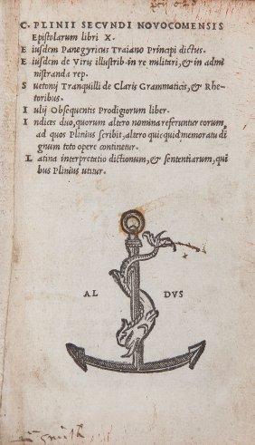 Plinius Secundus (gaius) - Epistolarum Libri X,
